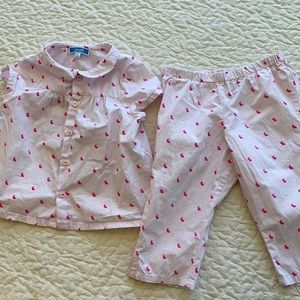 Jacadi Bunny Print Classic Cotton Pajamas 🐰